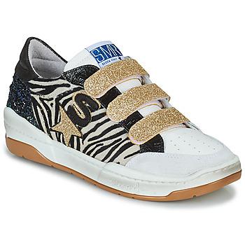 Schoenen Dames Lage sneakers Semerdjian GOETH Zwart / Wit / Goud