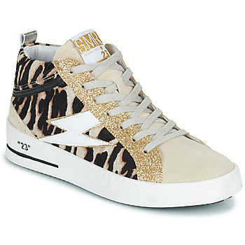 Schoenen Dames Hoge sneakers Semerdjian CIELLO Beige / Goud