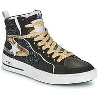 Schoenen Dames Hoge sneakers Semerdjian MARAL Zwart / Goud
