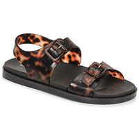 Schoenen Dames Sandalen / Open schoenen Melissa MELISSA WIDE SANDAL AD Brown / Zwart