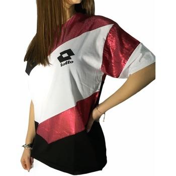 Textiel Dames T-shirts korte mouwen Lotto LTD445 White/Fuchsia