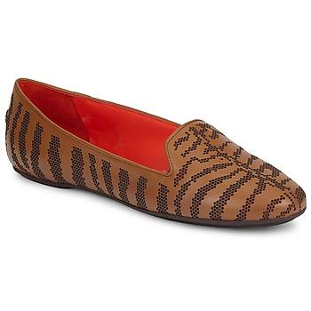Schoenen Dames Mocassins Roberto Cavalli TPS648 Brown