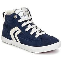 Schoenen Jongens Hoge sneakers Geox KIWI BOY Marine