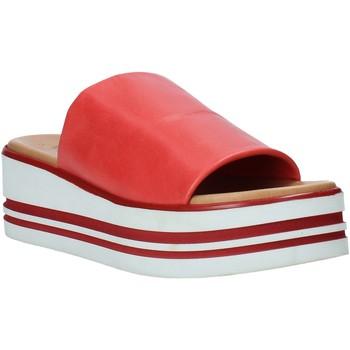 Schoenen Dames Leren slippers Melluso 09602X Rood