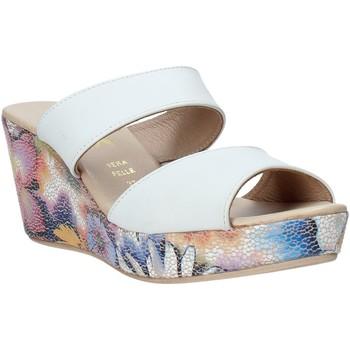 Schoenen Dames Leren slippers Melluso H037042 Wit