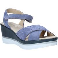 Schoenen Dames Sandalen / Open schoenen Melluso .037064F Blauw