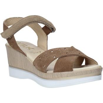 Schoenen Dames Sandalen / Open schoenen Melluso .037064F Bruin