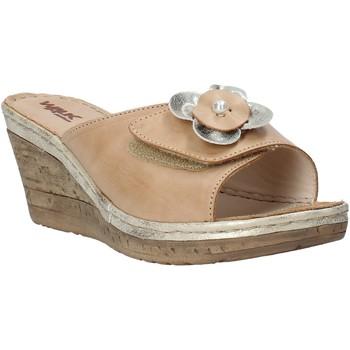 Schoenen Dames Leren slippers Melluso H019057 Beige