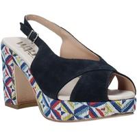 Schoenen Dames Sandalen / Open schoenen Melluso H037080 Blauw