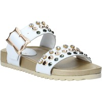 Schoenen Dames Leren slippers Melluso HK80086 Wit