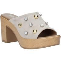 Schoenen Dames Leren slippers Melluso HR80101 Grijs