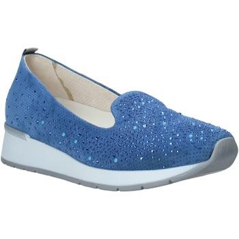 Schoenen Dames Mocassins Melluso HR20021 Blauw