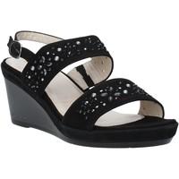 Schoenen Dames Sandalen / Open schoenen Melluso HR70512 Zwart