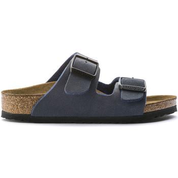 Schoenen Kinderen Leren slippers Birkenstock 552903 Blauw