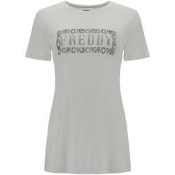 Textiel Dames T-shirts korte mouwen Freddy S1WALT2 Wit