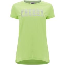 Textiel Dames T-shirts korte mouwen Freddy S1WCLT2 Groen