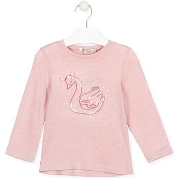 Textiel Meisjes T-shirts met lange mouwen Losan 026-1796AL Roze