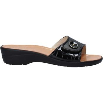Schoenen Dames Leren slippers Susimoda 1651 Zwart