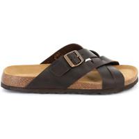Schoenen Heren Leren slippers Grunland CB2635 Bruin