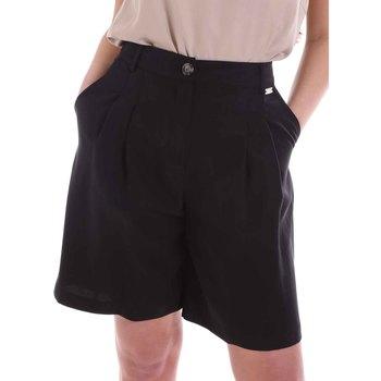 Textiel Dames Korte broeken / Bermuda's Café Noir JP6030 Zwart