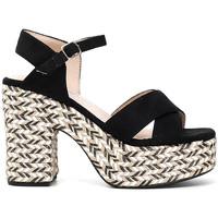 Schoenen Dames Sandalen / Open schoenen Café Noir XK9301 Zwart