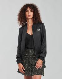 Textiel Dames Wind jackets Ikks FANNY Zwart / Kaki