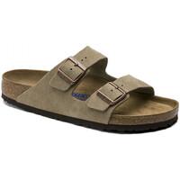 Schoenen Heren Leren slippers Birkenstock Arizona sfb cuir suede Brown