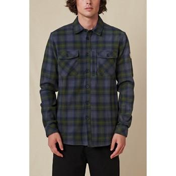 Textiel Heren Overhemden lange mouwen Globe Chemise  Wanderer Shacket bleu/vert
