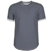 Textiel Heren T-shirts korte mouwen Yurban ORICO Marine / Wit