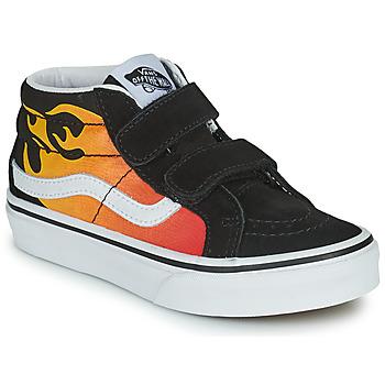 Schoenen Jongens Hoge sneakers Vans SK8-MID Zwart / Rood