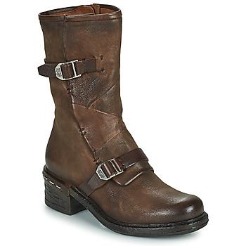 Schoenen Dames Enkellaarzen Airstep / A.S.98 NOVASUPER BUCKLE Brown
