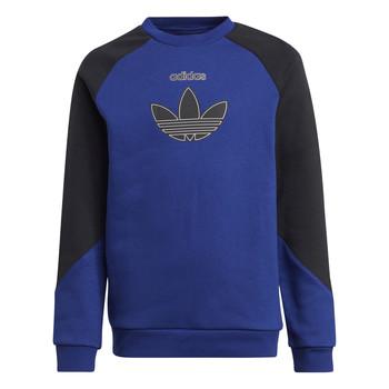 Textiel Kinderen Sweaters / Sweatshirts adidas Originals ROUGED Marine / Zwart