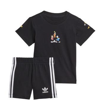 Textiel Jongens Setjes adidas Originals COTES Zwart