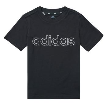 Textiel Jongens T-shirts korte mouwen adidas Performance SAMINA Zwart