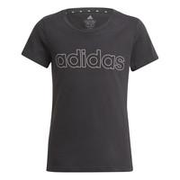 Textiel Meisjes T-shirts korte mouwen adidas Performance PLAKAT Zwart