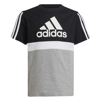 Textiel Jongens T-shirts korte mouwen adidas Performance MOULITA Grijs / Zwart