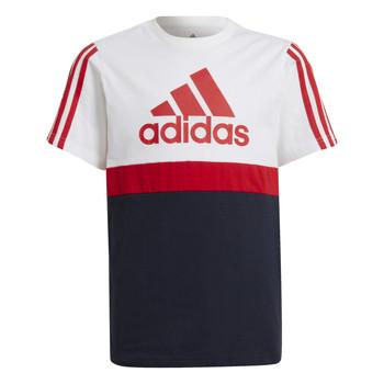 Textiel Jongens T-shirts korte mouwen adidas Performance GUILIA Wit / Marine