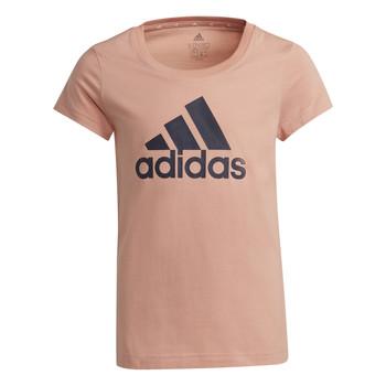 Textiel Meisjes T-shirts korte mouwen adidas Performance ALBERIC Roze