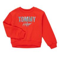 Textiel Meisjes Sweaters / Sweatshirts Tommy Hilfiger KOMELA Rood