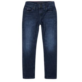 Textiel Jongens Skinny jeans Tommy Hilfiger ARMAND Blauw