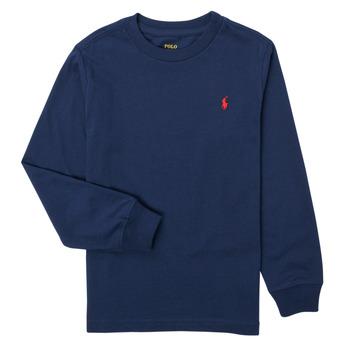Textiel Jongens T-shirts met lange mouwen Polo Ralph Lauren KEMILO Marine