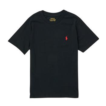 Textiel Jongens T-shirts korte mouwen Polo Ralph Lauren FANNY Zwart