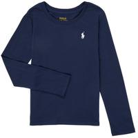 Textiel Meisjes T-shirts met lange mouwen Polo Ralph Lauren TENINA Marine
