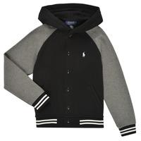 Textiel Jongens Sweaters / Sweatshirts Polo Ralph Lauren DENINO Zwart / Grijs