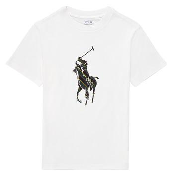 Textiel Jongens T-shirts korte mouwen Polo Ralph Lauren GUILIA Wit