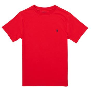 Textiel Jongens T-shirts korte mouwen Polo Ralph Lauren FOLLIA Rood