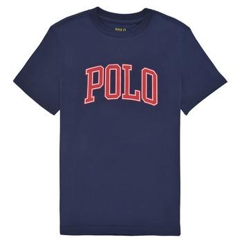 Textiel Meisjes T-shirts korte mouwen Polo Ralph Lauren MATIKA Marine
