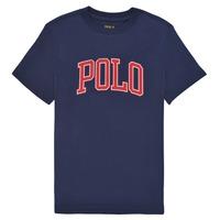 Textiel Jongens T-shirts korte mouwen Polo Ralph Lauren MELIKA Marine