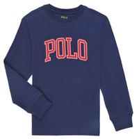 Textiel Jongens T-shirts met lange mouwen Polo Ralph Lauren METIKA Marine