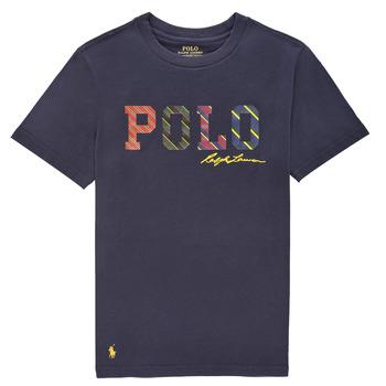 Textiel Jongens T-shirts korte mouwen Polo Ralph Lauren COLLINA Marine